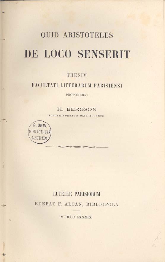 Bergson1889Diss1